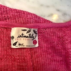 Free People Tops - Intimately Free People Pink Tank Top